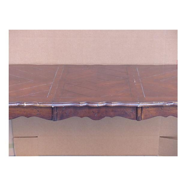Extendable Parquet-Style Dining Table - Image 6 of 10