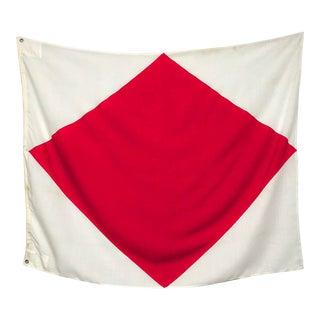 "Large Vintage Nautical Signal Flag, ""Foxtrot"" For Sale"