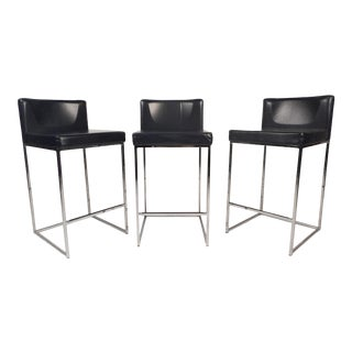 Set of 3 Italian Stools by Calligaris For Sale
