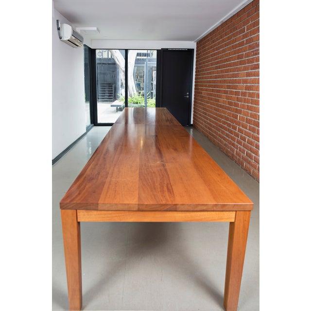 Custom Mahogany Dining Table - Image 3 of 3