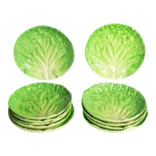 1960s Lettuce Ware Plates - Set of 11 For Sale