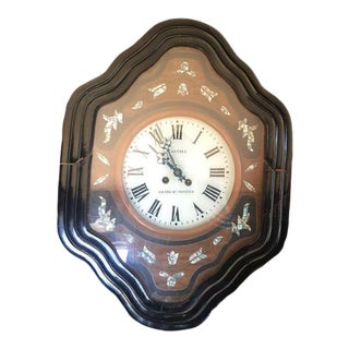 "Antique A. Guerin French ""Chateau Gontier"" Wall Clock For Sale"