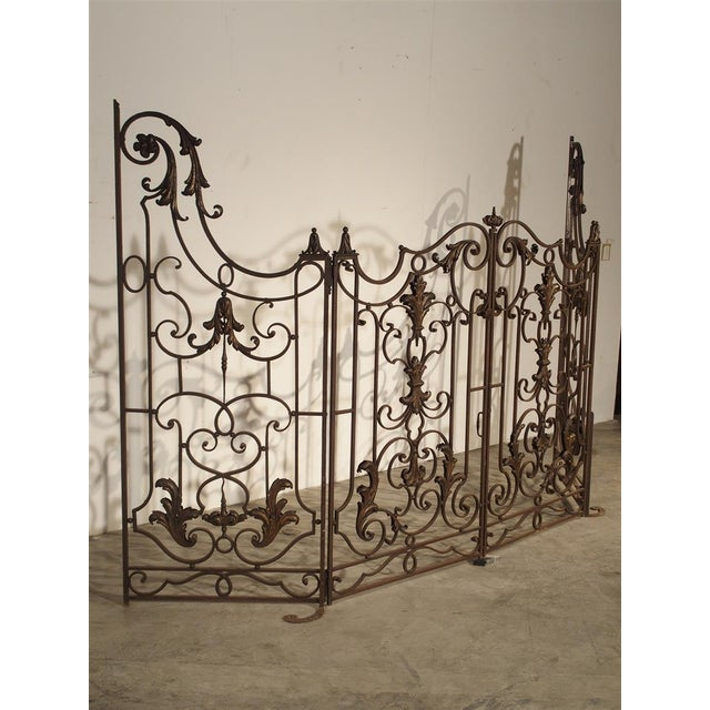 Circa 1800 French Wrought Iron 4 Section Gate - A Pair For Sale - Image 11 of 12