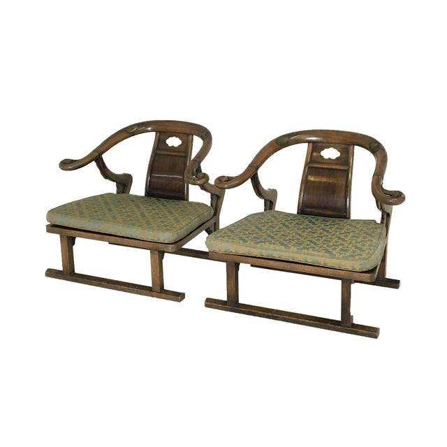 """Mid Century Michael Taylor for Baker """"Far East"""" Lounge Chairs - A Pair For Sale - Image 9 of 9"""
