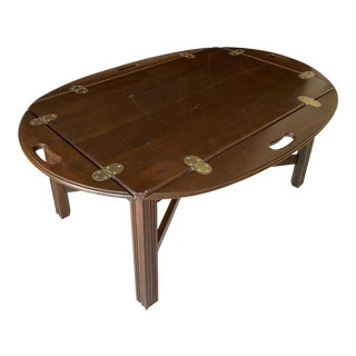 English Style Campaign Coffee Table For Sale