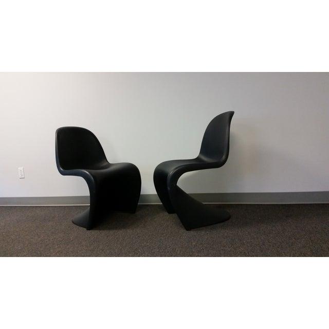 Mid-Century Black Panton Chairs - Pair - Image 4 of 5