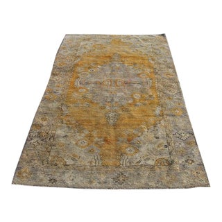 """Handwoven Rug Kilim Turkish Rug Natural Wool, Decorative Area Rugs,rug, 3'10"""" X 6'9"""" Ft For Sale"""