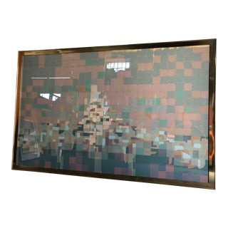 1970s Super Large Framed Lithograph, Numbered and Signed by the Artist. For Sale