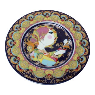 Vintage German Bjorn Wiinblad 'Engel Mit Glockenspiel' Decorative Plate For Sale