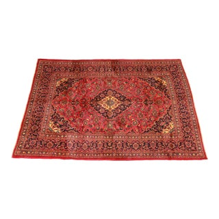 """Vintage Hand-Knotted Persian Wool Rug - 6'4"""" X 9'4"""" For Sale"""