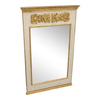 Regency-Style Painted Trumeau Mirror