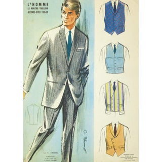 Vintage Men's Suit Advertisement, 1965 For Sale