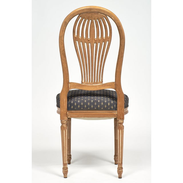 Brown Louis XVI Style Céruse Dining Chairs For Sale - Image 8 of 10