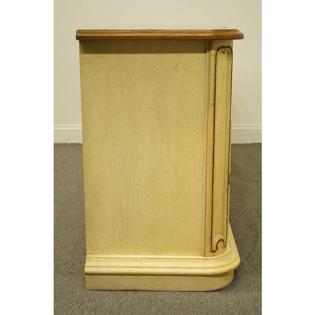 20th Century French Provincial Stanley Furniture Cream Painted Triple Door Dresser For Sale - Image 11 of 12