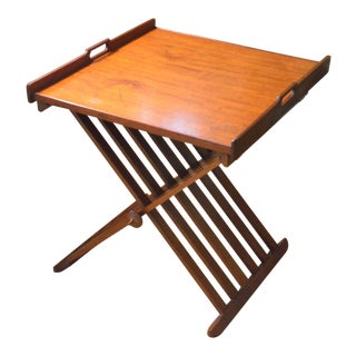 1960s Mid-Century Modern Walnut Stewart MacDougall and Kipp Sterwart Drexel Declaration Folding Table For Sale