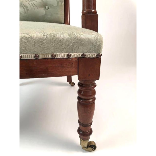 Metal 19th Century French Empire Neoclassical Armchair For Sale - Image 7 of 11