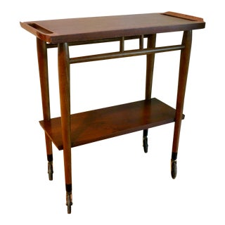 Lane Acclaim Mid-Century Modern Serving/Bar Cart For Sale
