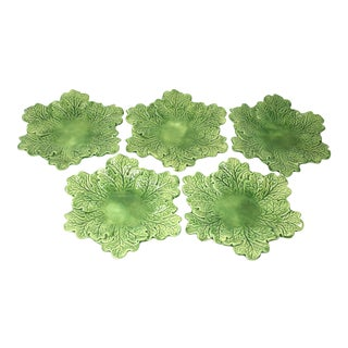 Vintage Leaf Salad Plates - Set of 5 For Sale