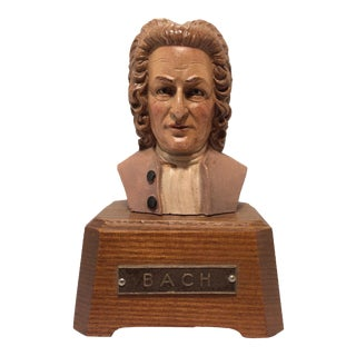 Vintage Bach Wind Up Music Box For Sale