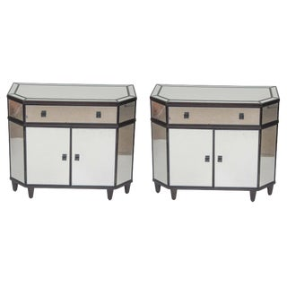Art Deco Style Mirror Chests-A Pair For Sale