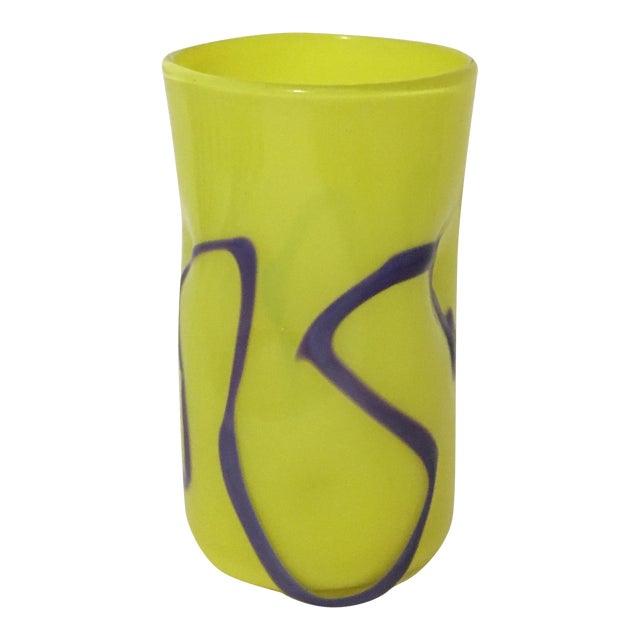 Memphis-Style Handblown Art Glass Vase - Image 1 of 7