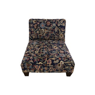 1880's Persian Low Profile Slipper Chair or Petbed From Antique Khorassan Rug For Sale