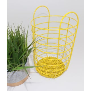 20th Century Abstract Yellow Metal Basket Preview