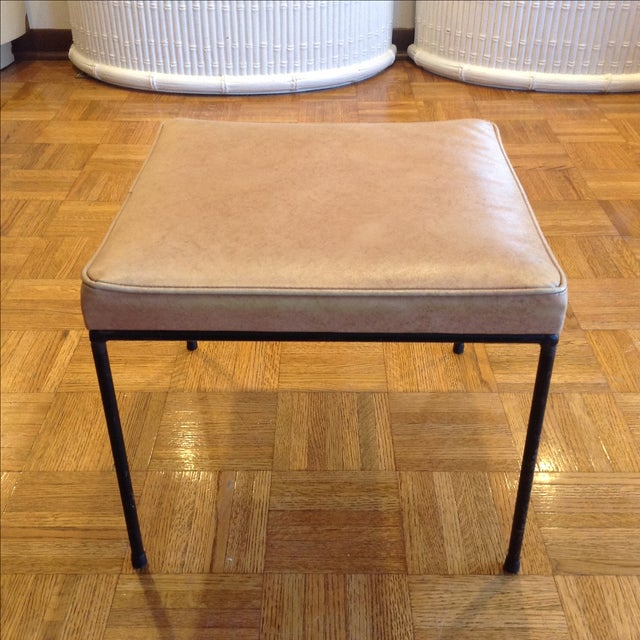 1950s Vintage Frederic Weinberg Wrought Iron Stool - Image 2 of 6