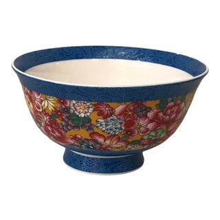 Chinese Famille Rose Porcelain Hand Painted Flower Bowl For Sale