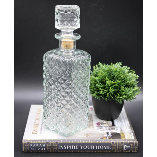 Antique English Crystal Decanter For Sale - Image 4 of 13