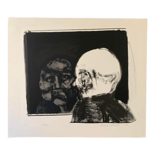 Mid-Century Man in the Mirror Monotype For Sale