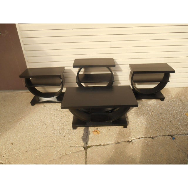 Vintage Brown Saltman Side Tables / End Tables - Set of 2 - Image 3 of 7
