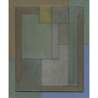 FrameWorks Study 25—Geometric Abstract Oil Painting For Sale