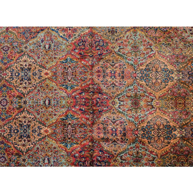 Red Early 20th Century Karastan Kirman Rug For Sale - Image 8 of 11