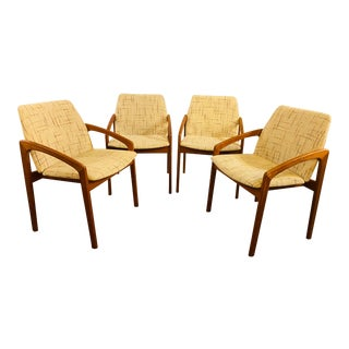 1950s Mid-Century Modern Kai Kristiansen Danish Teak Dining Chairs - Set of 4 For Sale