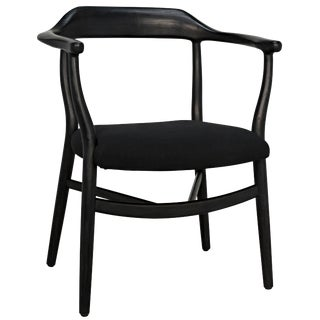 Rey Chair, Charcoal Black For Sale