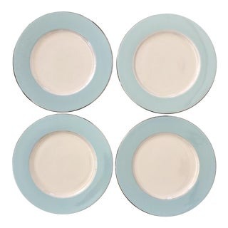 Vintage Dining Plates Tiffany Blue - Set of 4