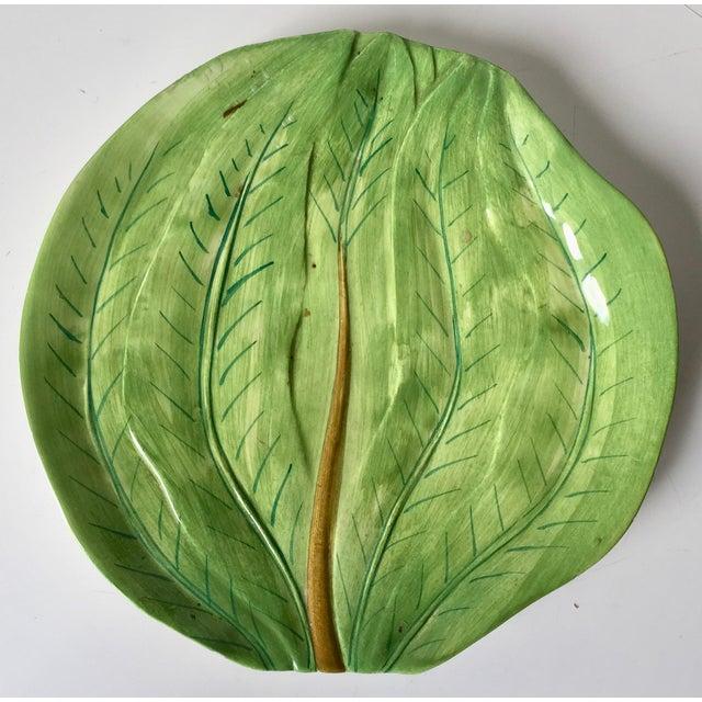 Green Este Ceramiche-Italian Faience Dish & Cup For Sale - Image 8 of 10