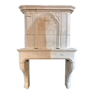 Louis XIV Limestone Mantel For Sale