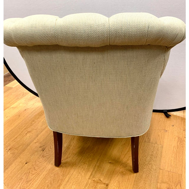Ralph Lauren Tufted Upholstered Chairs, a Pair For Sale - Image 10 of 13
