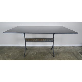 Greek Key Iron and Marble Bistro Table, Circa 1940 Preview