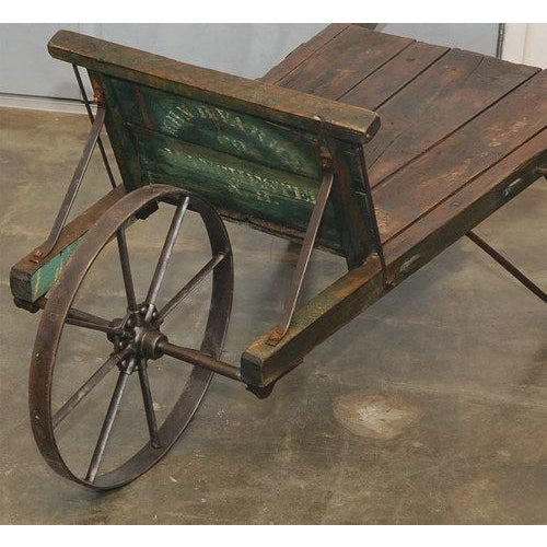 Iron New England Painted Wheelbarrow For Sale - Image 7 of 7