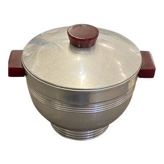 1940s Aluminum and Bakelite Ice Bucket For Sale