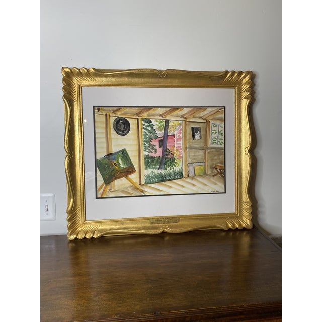 American Mid 19th Century Joseph Pollet Original Framed Painting For Sale - Image 3 of 9