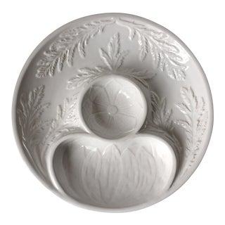 "Majolica White Artichoke Dish-Bordallo Pinheiro-11"""