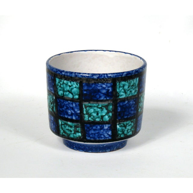 Mid-Century Teal & Blue Cachepot - Image 2 of 4