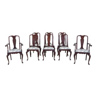 1980s Vintage Henkel Harris Mahogany Dining Chairs - Set of 8 For Sale