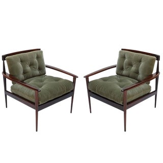 Rino Levi Brazilian Jacaranda Armchairs-A Pair For Sale