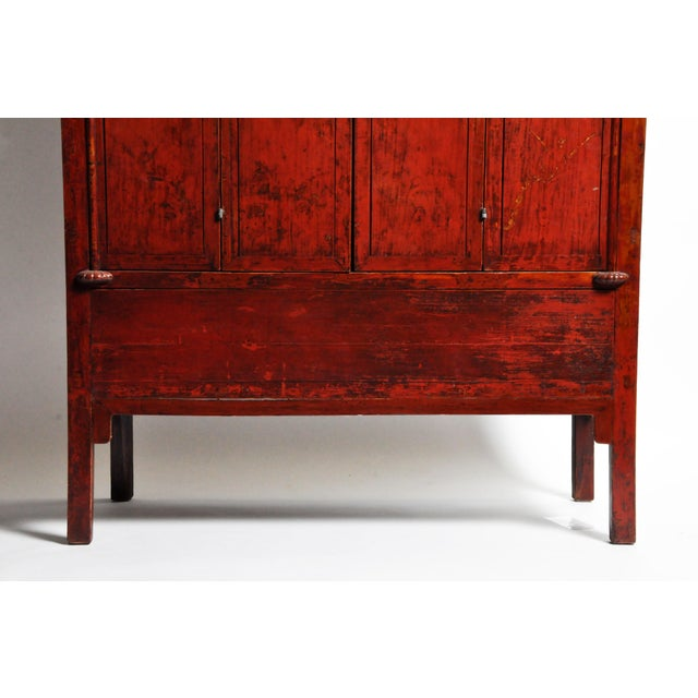 19th Century Chinese Wedding Cabinet With Square Lockplate For Sale - Image 5 of 13