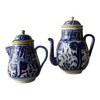 1920s Mexican Tea Pots & Creamer - Set of 2 For Sale